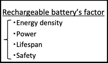 二次電池の性能因子