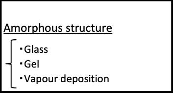 非晶質構造