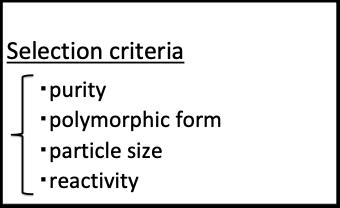 材料の選定基準